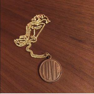 Cooper LOVE charm pendant necklace